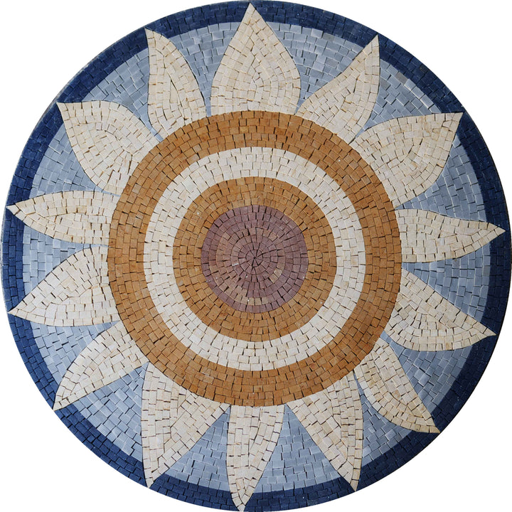 The Sunflower - Flower Mosaic Art