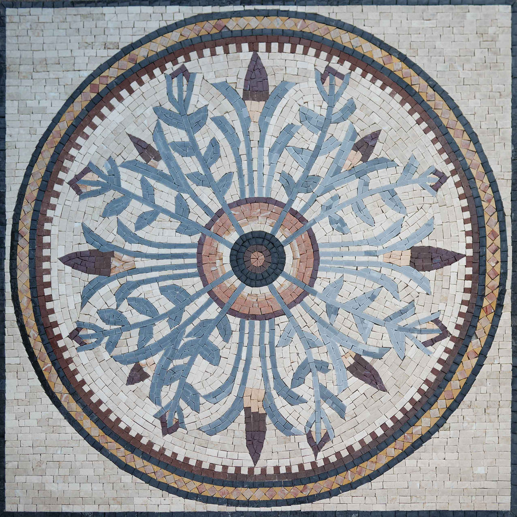 Floral Mosaic Art Panel - Camille