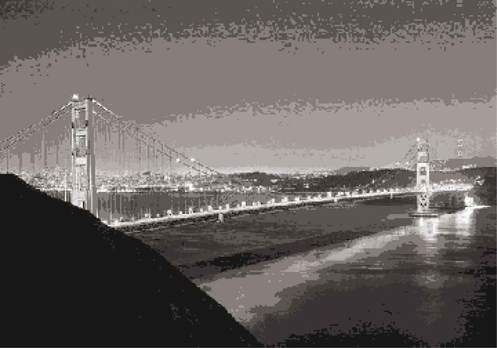 San Francisco Bridge Pixels Mosaics