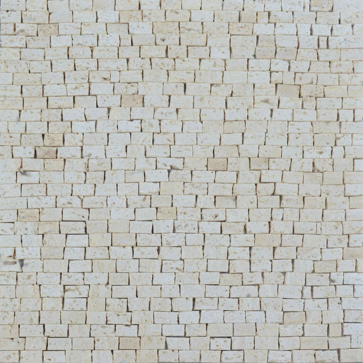 Mosaic Marble Sheet- Travertino Beige