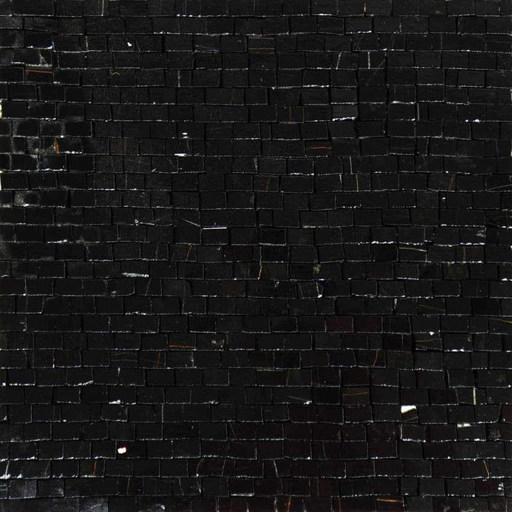 Mosaic Glass Sheet-Nero Marquina