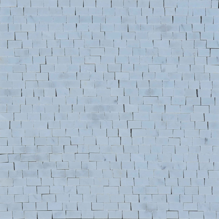Mosaic Marble Sheet - White Carrara