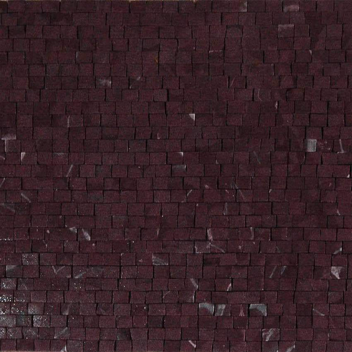 Quartz Mosaic Sheet-Rose Cherry