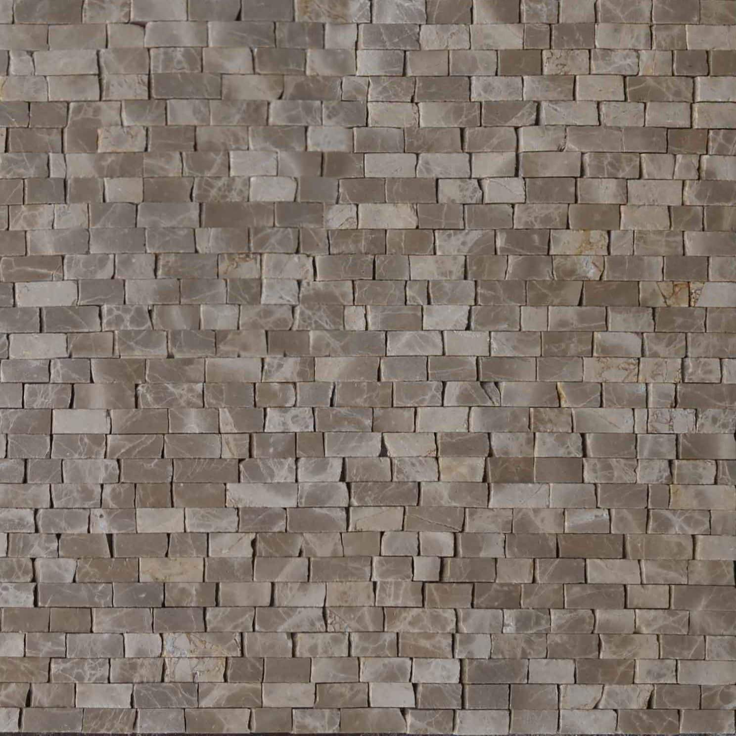 Mosaic Marble Sheet Light Emperador Pic
