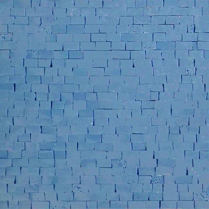 Quartz Mosaic Sheet - Blue Aqua