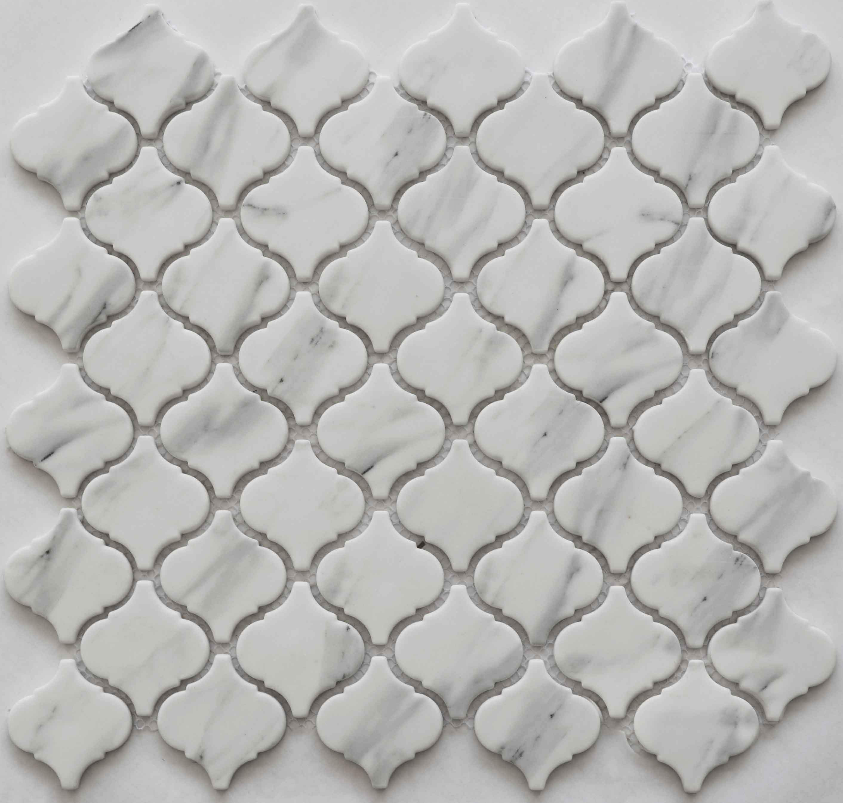 Glass Mosaic Tile Houndstooth Pic