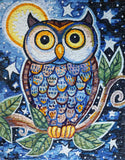 Dreamy Night Owl Mosaic Mural