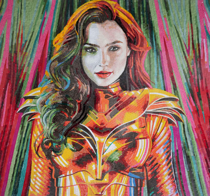 Wonder Woman DC Comic Mosaic
