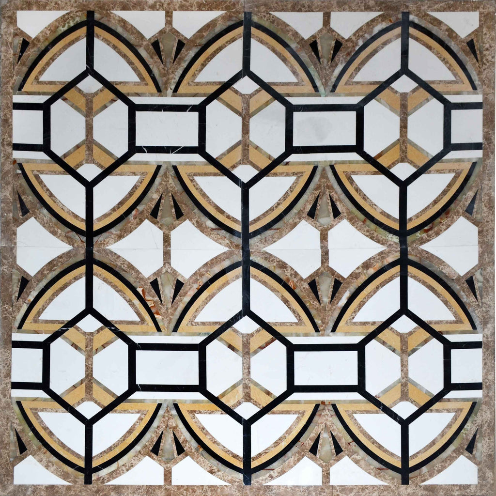 Mozaico Large Waterjet Mosaic Square