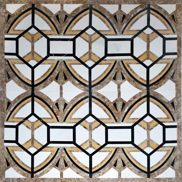 Large Waterjet Mosaic Square - Genetta I