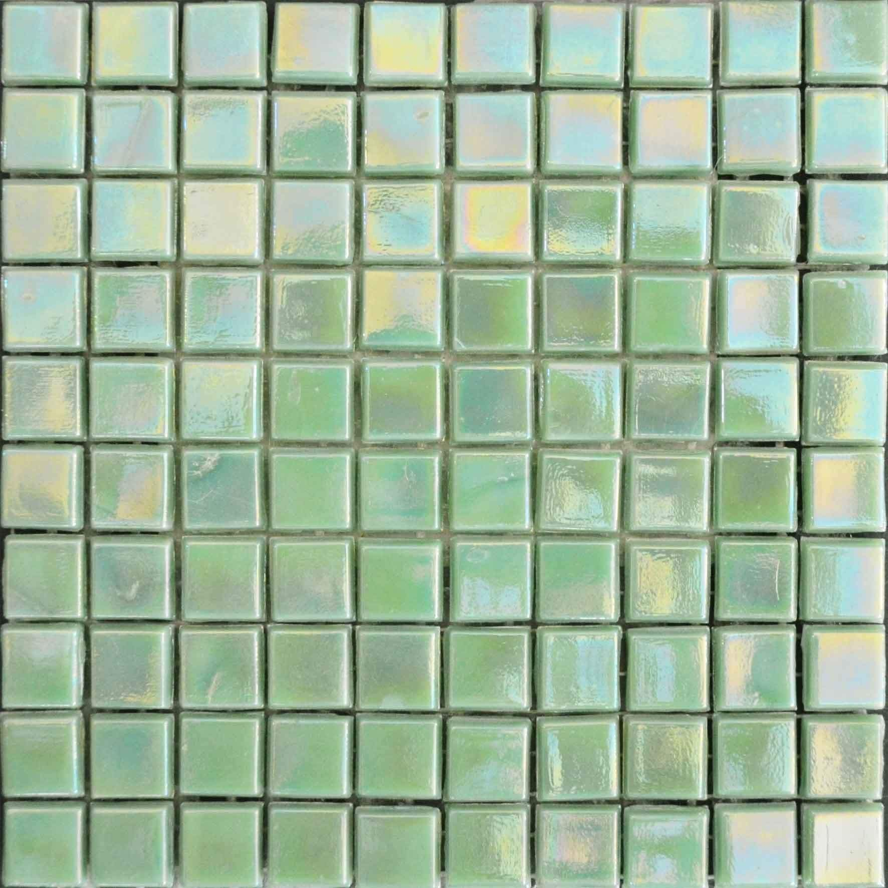 Iridescent Mosaic Sheet Arctic Green Pic