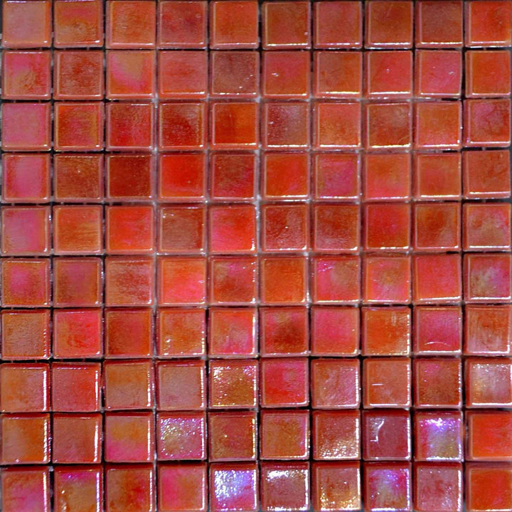 Iridescent Mosaic Sheet - Salamander Orange
