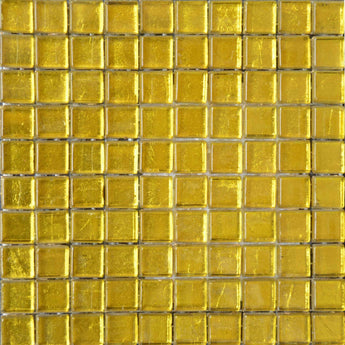 Glass Mosaic Sheet-Gold Color