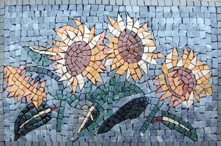 Mosaic Wall Art - Sunflowers