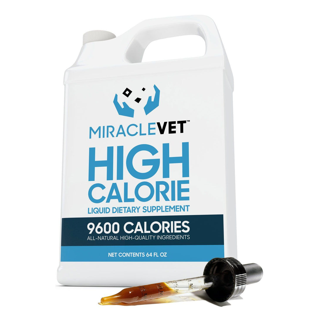1/2 gallon of Miracle Vet™ Weight Gainer (9,600 calories)