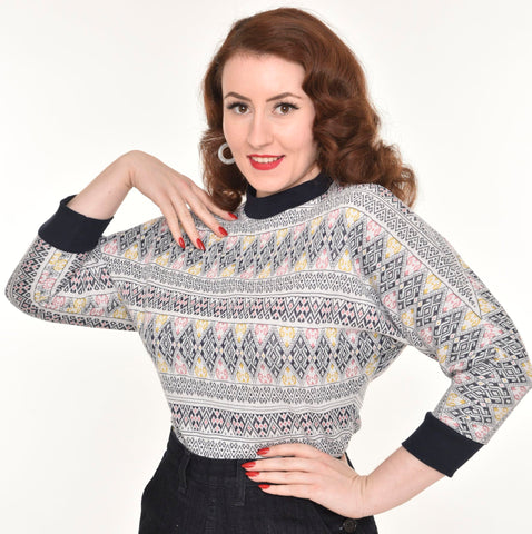 Freddies of Pinewood 1950s vintage inspired Ski Sweater
