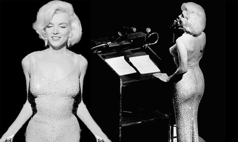 Marilyn Monroe JFK Happy Birthday Mr President dress
