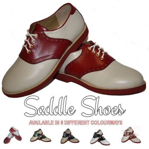 Rocket Originals vintage inspired 1940s 1950s style saddle shoe