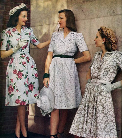 1940s spring summer vintage fashion style 1940s
