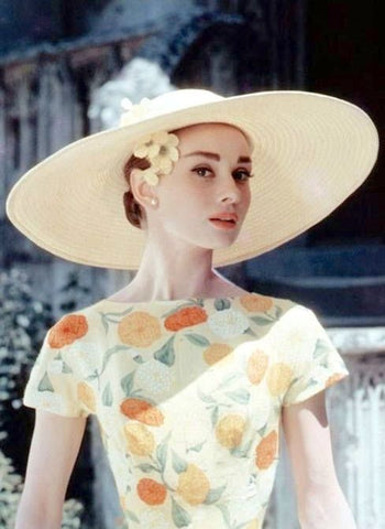 Audrey Hepburn vintage 1950s Hollywood icon retro spring style mid century Splendette