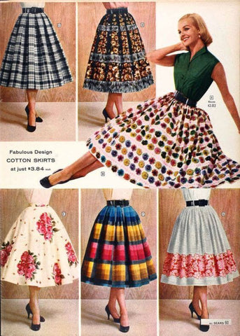 Splendette vintage inspired 1950s style advert for day dress circle skirt