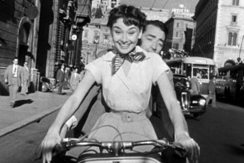 Audrey Hepburn Gregory Peck Roman Holiday Vespa vintage Hollywood film 1950s 1953