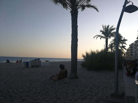High Rockabilly Calafell sunset palm trees