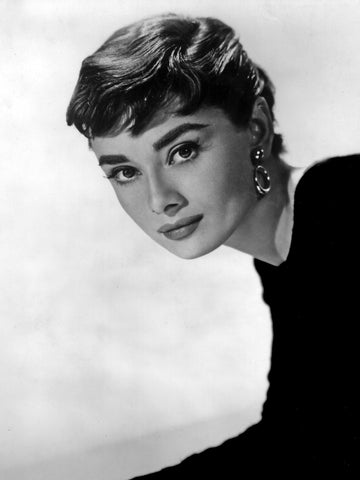 Audrey Hepburn Sabrina 1950s vintage inspired style drop hoop earrings Splendette