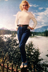 Marilyn Monroe casual Norma Jean denim vintage outfit