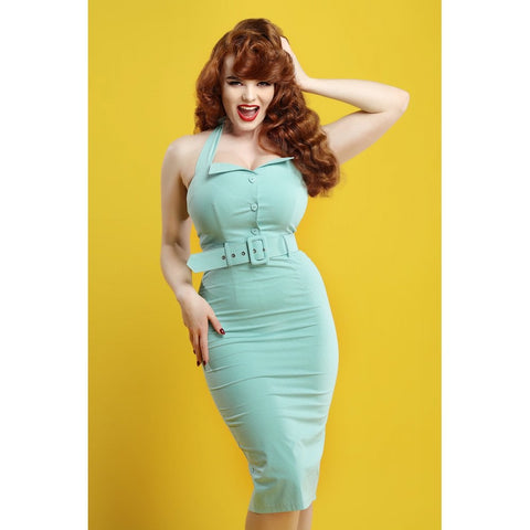 Collectif Wanda wiggle dress vintage inspired 1950s pinup fashion Miss Deadly Redd