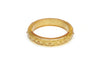 Midi Carved Gold Glitter Bangle