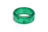 Wide Rainbow Jewel Emerald Glitter Duchess Bangle