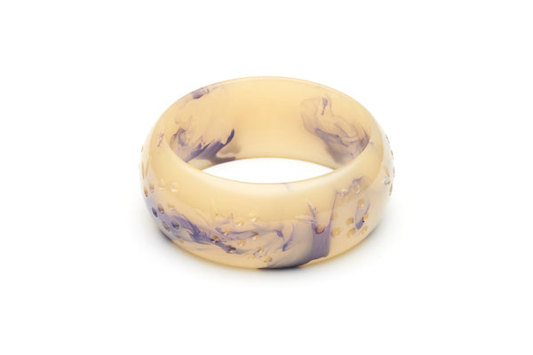 Wide Grape Crème Fakelite Bangle