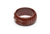 Wide Tobacco Heavy Carve Fakelite Bangle