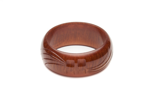 Wide Golden Chocolate Fakelite Bangle