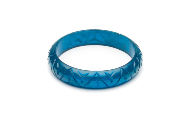 Midi Golden Teal Fakelite Duchess Bangle