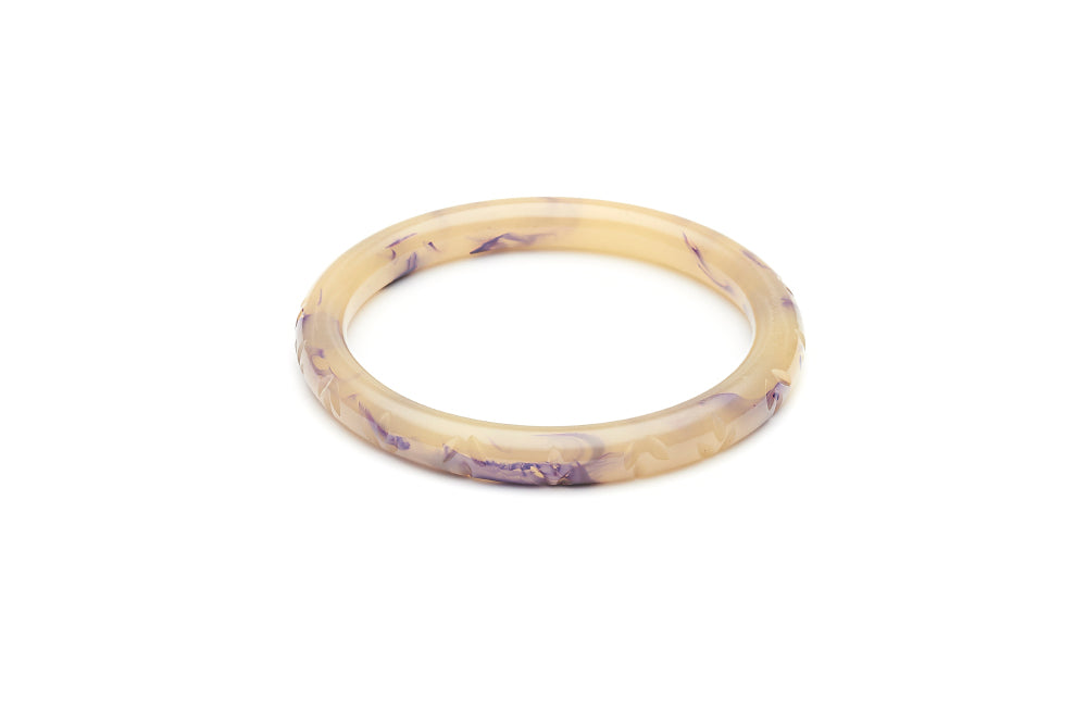 Narrow Grape Crème Fakelite Bangle