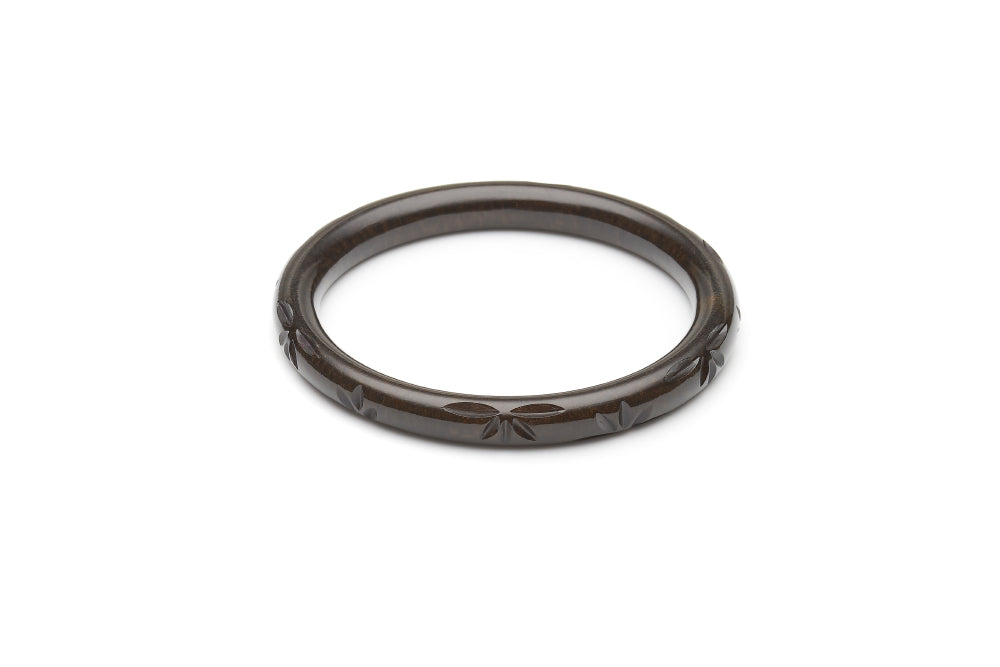 Narrow Golden Night Fakelite Bangle