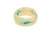 Wide Teal Crème Fakelite Bangle