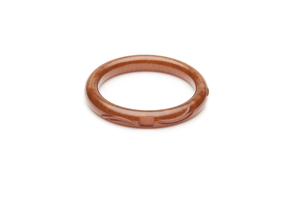 Golden Chocolate Fakelite Maiden Bangle