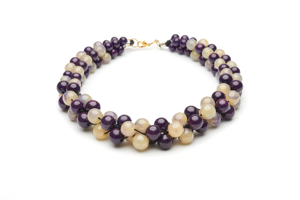Golden Grape Fakelite Beads