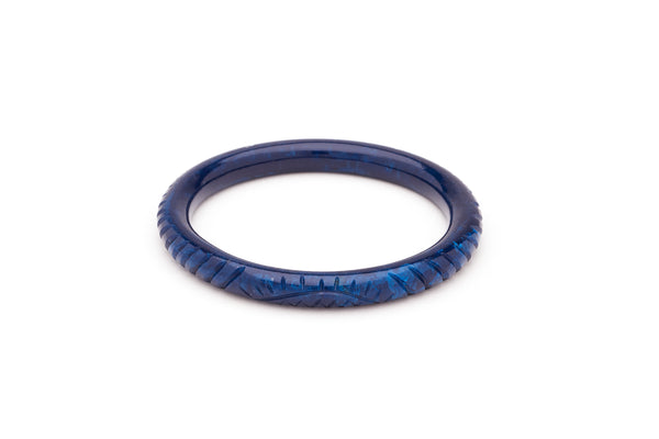 Narrow Navy Fakelite Bangle