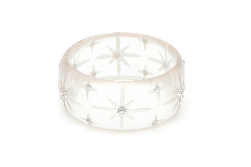 Extra Wide Clear Starburst Bangle