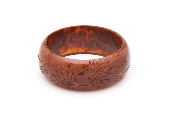 Wide Brown Fakelite Bangle