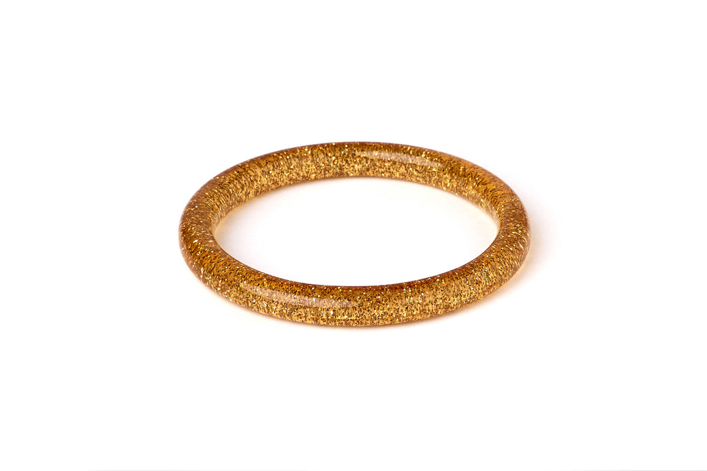 Narrow Pale Gold Glitter Bangle