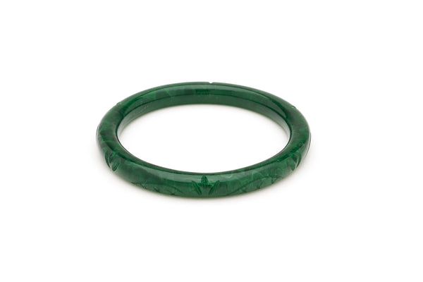 Narrow Deep Green Fakelite Bangle