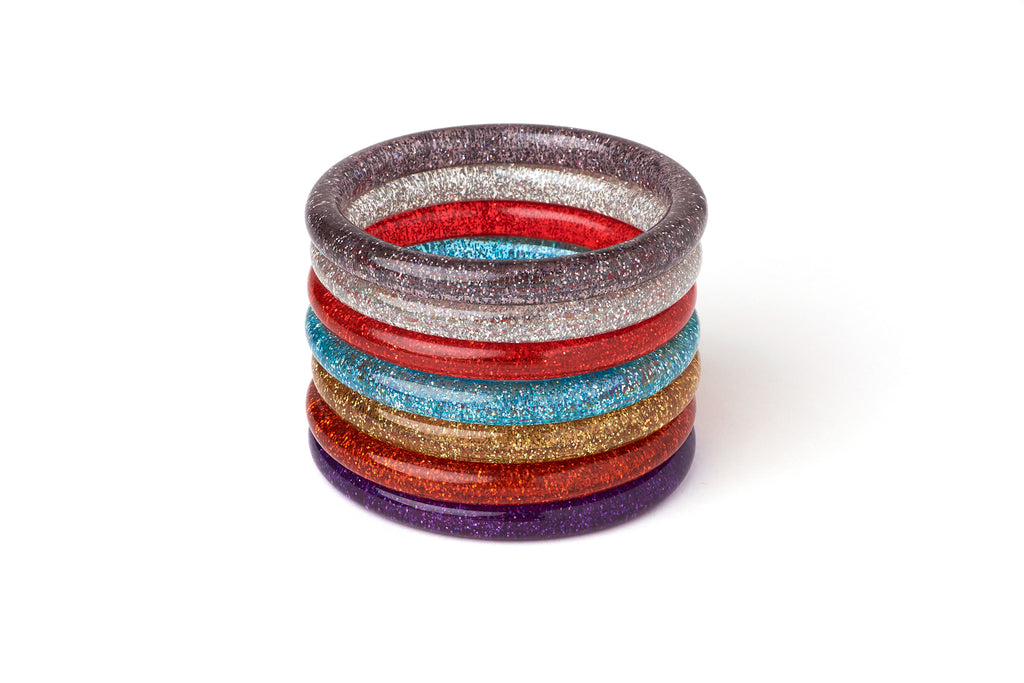 New Narrow Silver Glitter Duchess Bangle