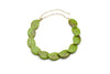 Bakelite style bead necklace in alder green