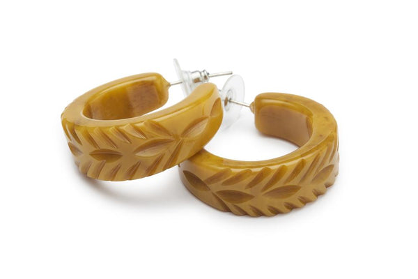 Banoffee Fakelite Hoop Earrings