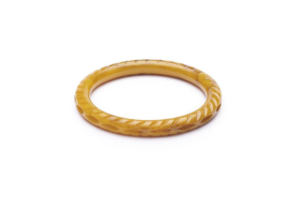 Narrow Banoffee Fakelite Bangle